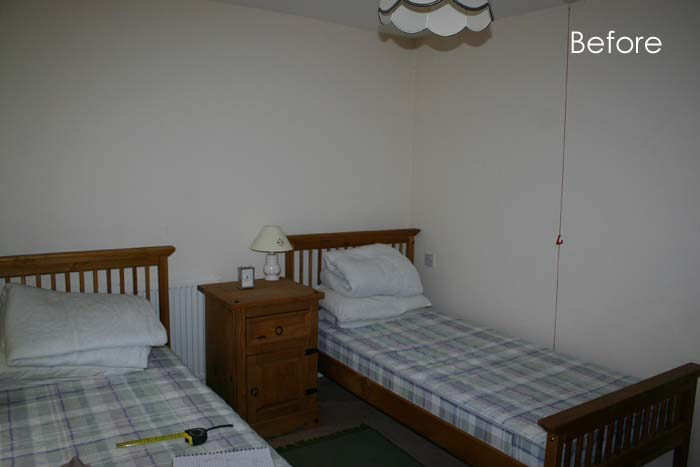 Guest room at Becketts Close before refurbishment